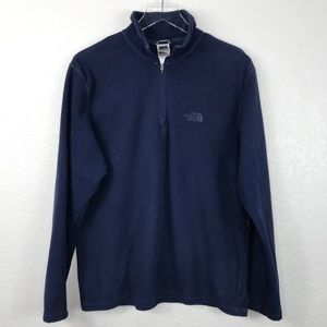 The North Face Quarter Zip Pullover Fleece M Navy